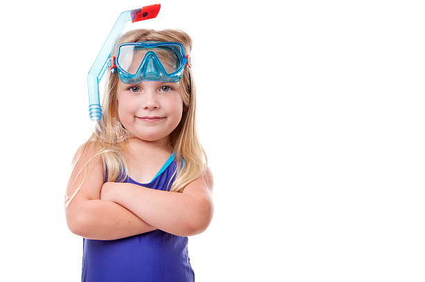Child Snorkeler stock photo