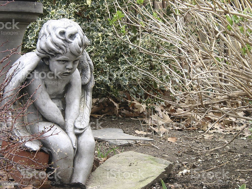 child stone statue royalty-free stock photo