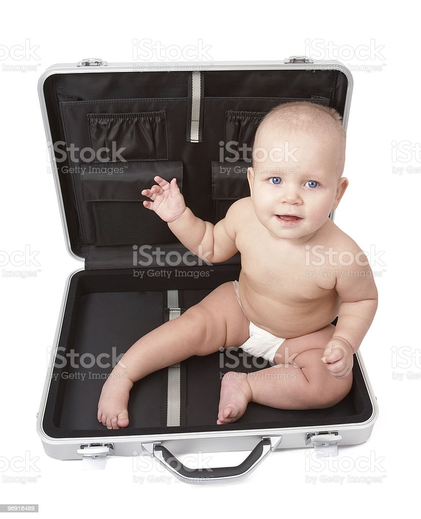 Child & Suitcase royalty-free stock photo