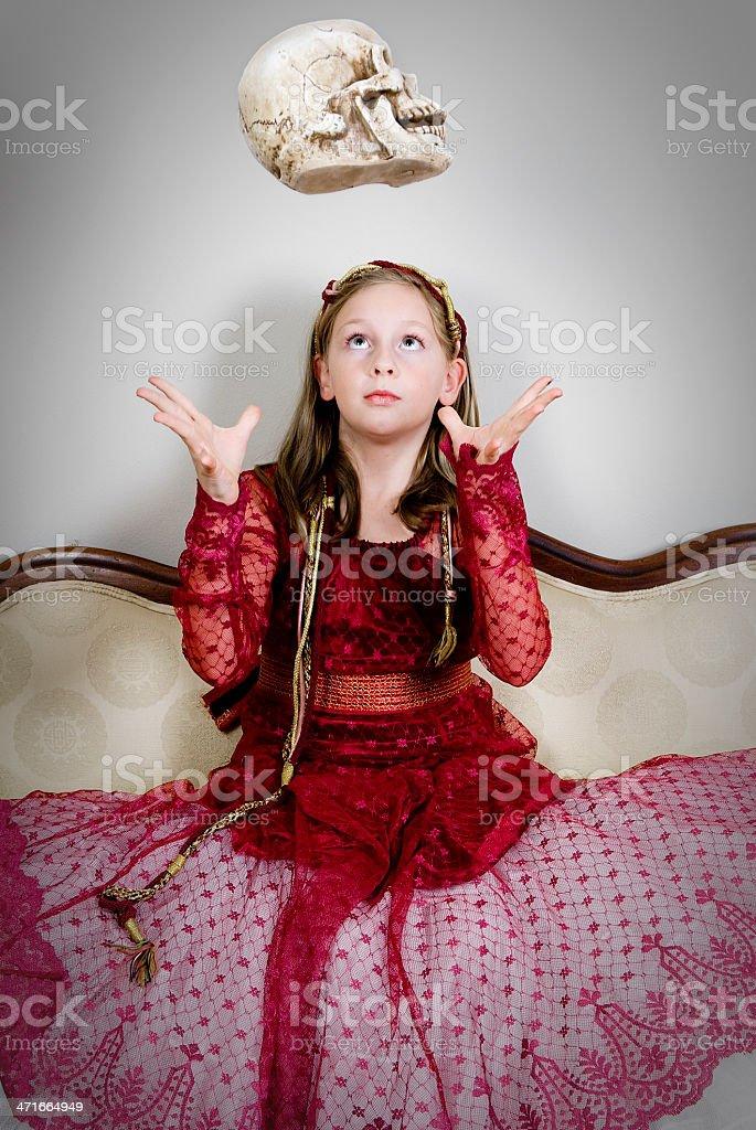 Child Summoning The Skull royalty-free stock photo