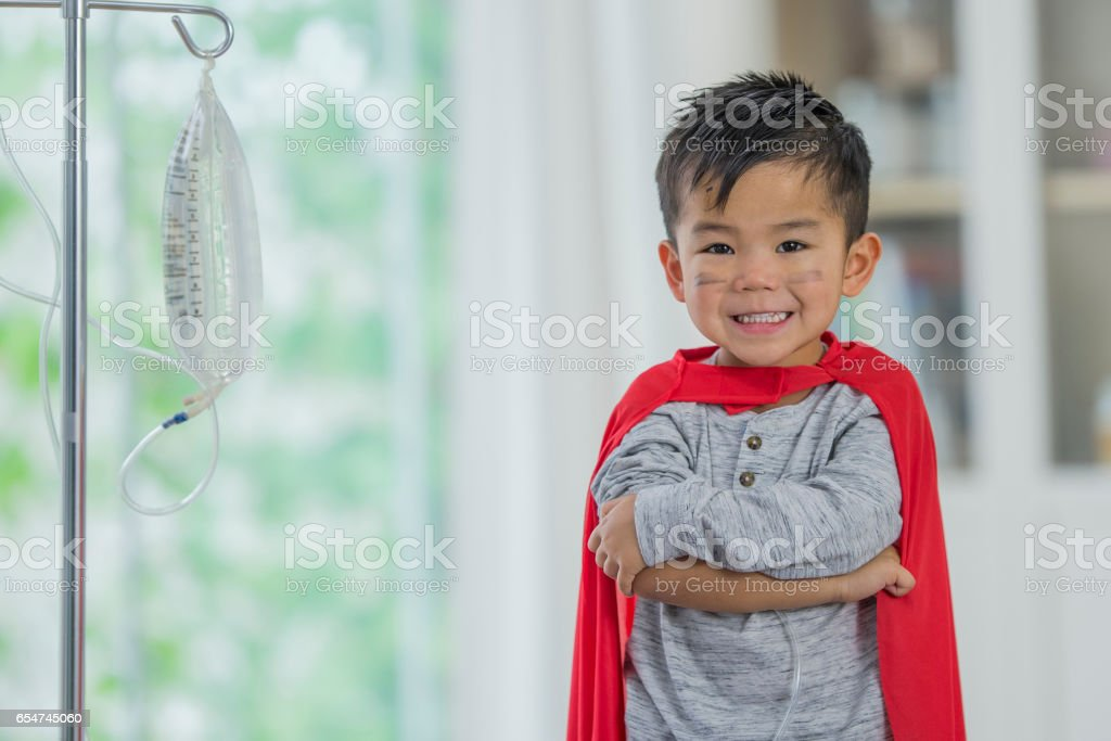 Child Superhero stock photo