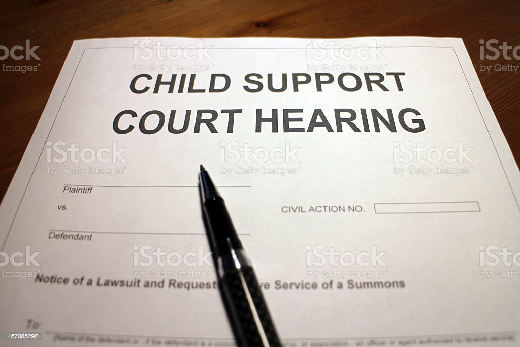 Child Support Court Hearing stock photo