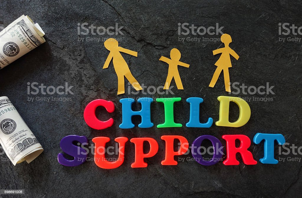 Child Support family stock photo