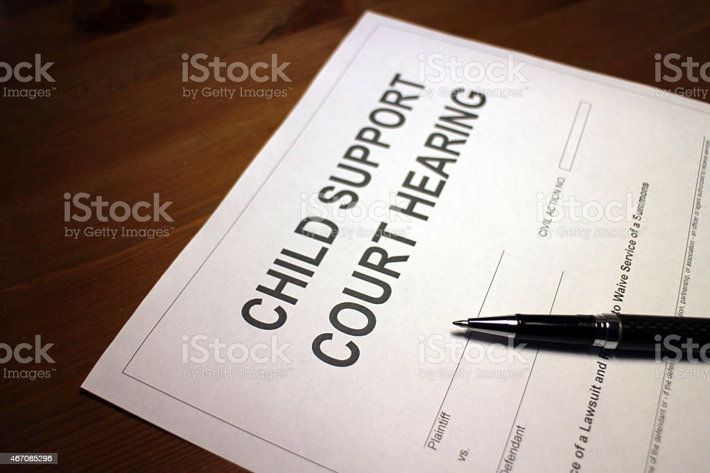 Child Support Hearing stock photo