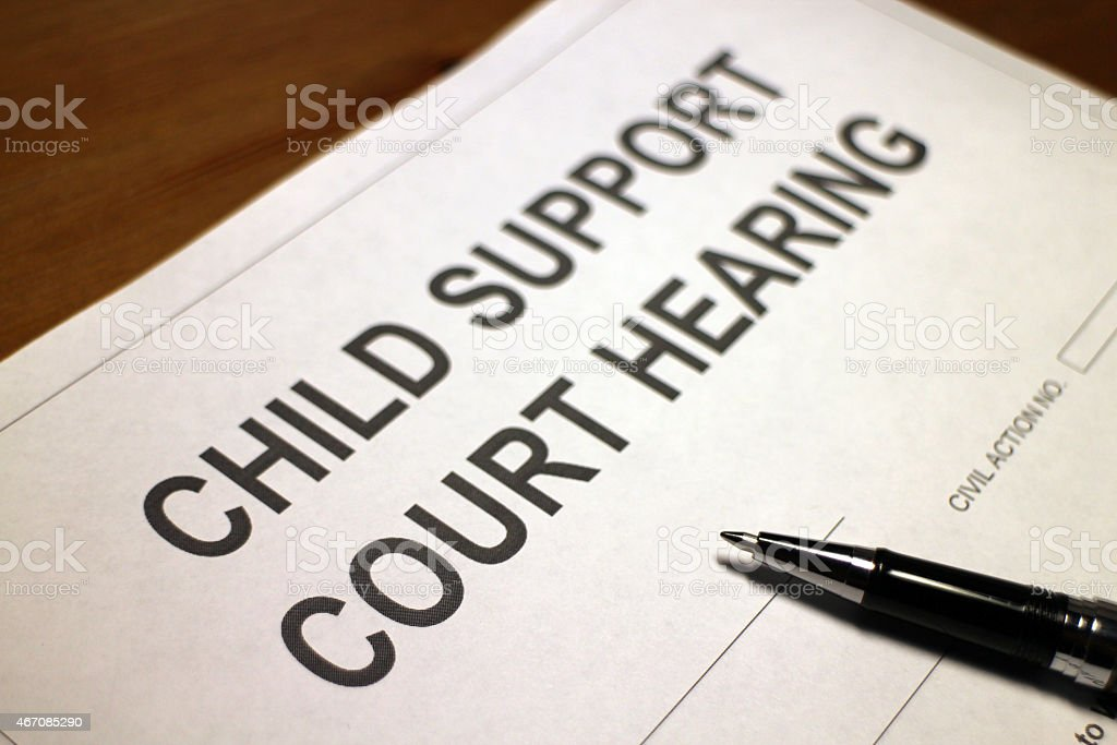 Child Support stock photo