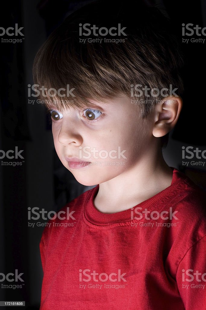 Child Surprise Discovery royalty-free stock photo