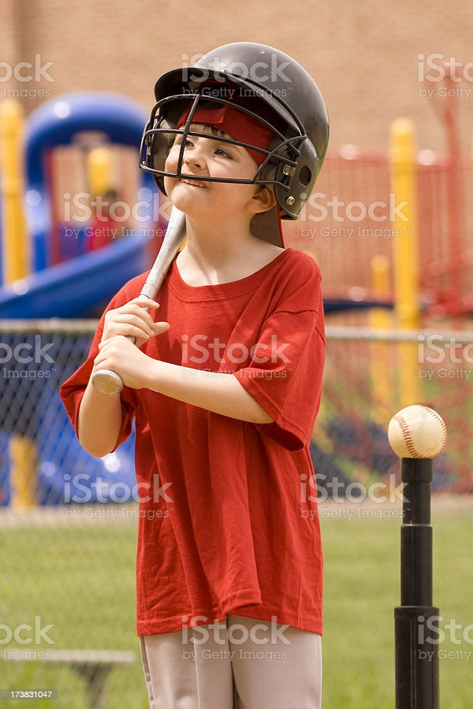 Child Tball Player stock photo