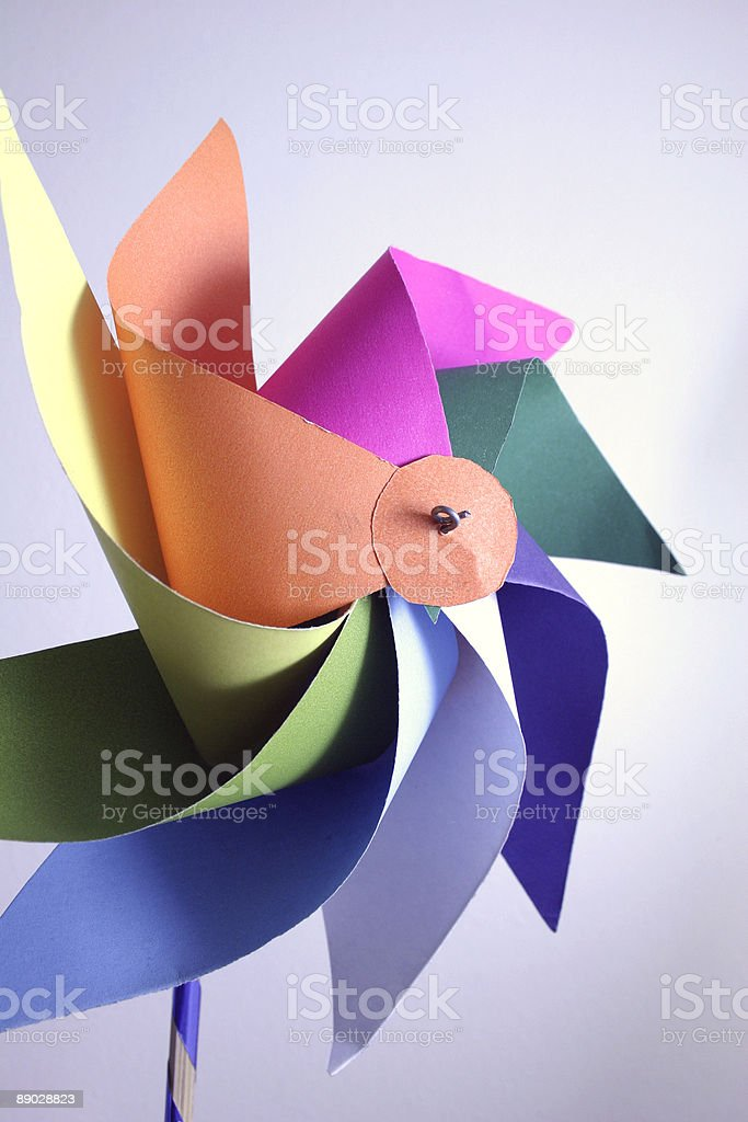 Child toy -  windmill royalty-free stock photo