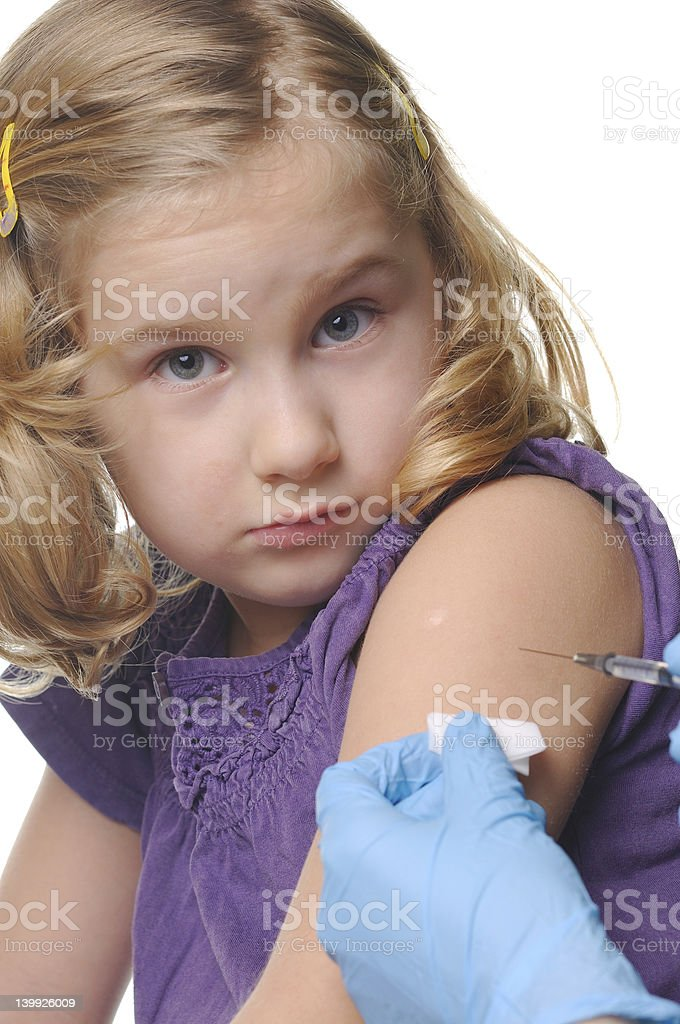 Child vaccinations on a white royalty-free stock photo