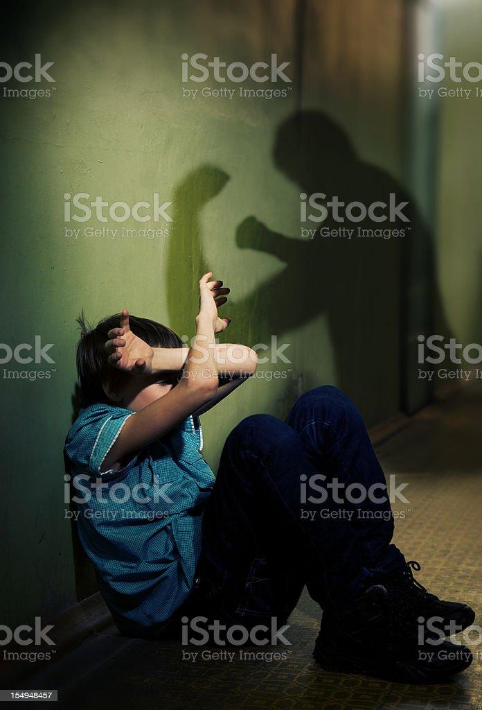 Child victim stock photo