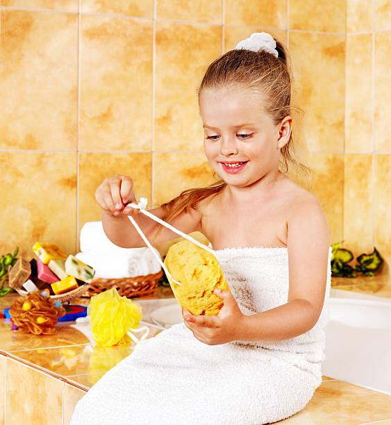 Sauna Spa Treatment Health Spa Little Girls Stock Photos
