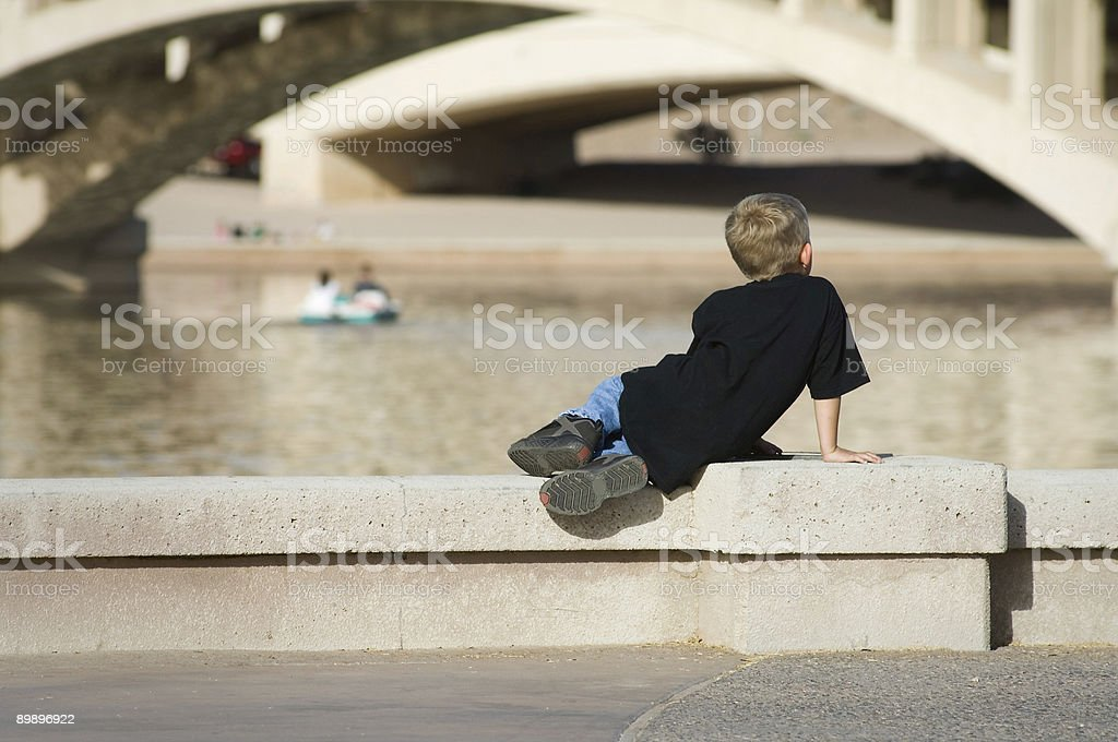 Child watching Others royalty-free stock photo