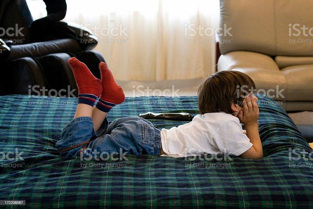 Child Watching TV royalty-free stock photo