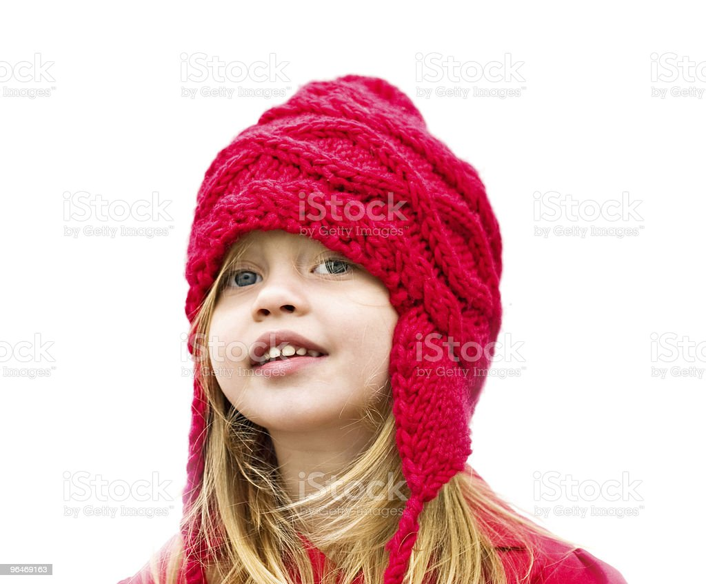 Child Wearing a Bobble royalty-free stock photo