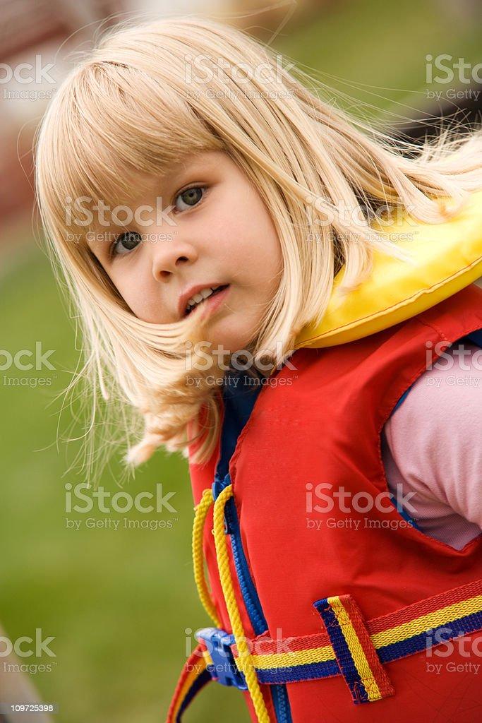Child Wearing Life Jacket royalty-free stock photo