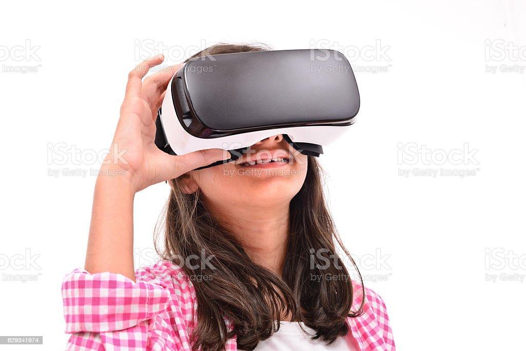 Child wearing vr headset - Photo
