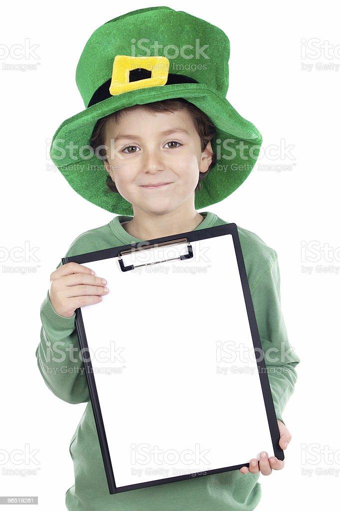 Dziecko whit Kapelusz Saint Patrick's zbiór zdjęć royalty-free