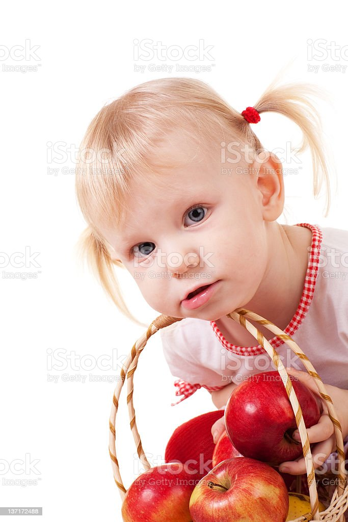 child with apples royalty-free stock photo