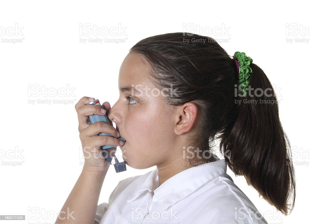 Child with Asthma stock photo