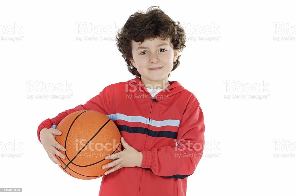 Child with basketball royalty-free stock photo