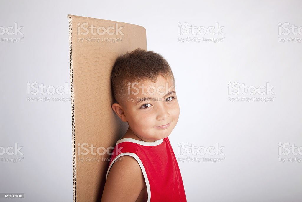 child with blank royalty-free stock photo