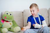 Child with broken arm