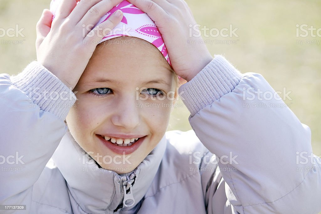 Child with cancer royalty-free stock photo