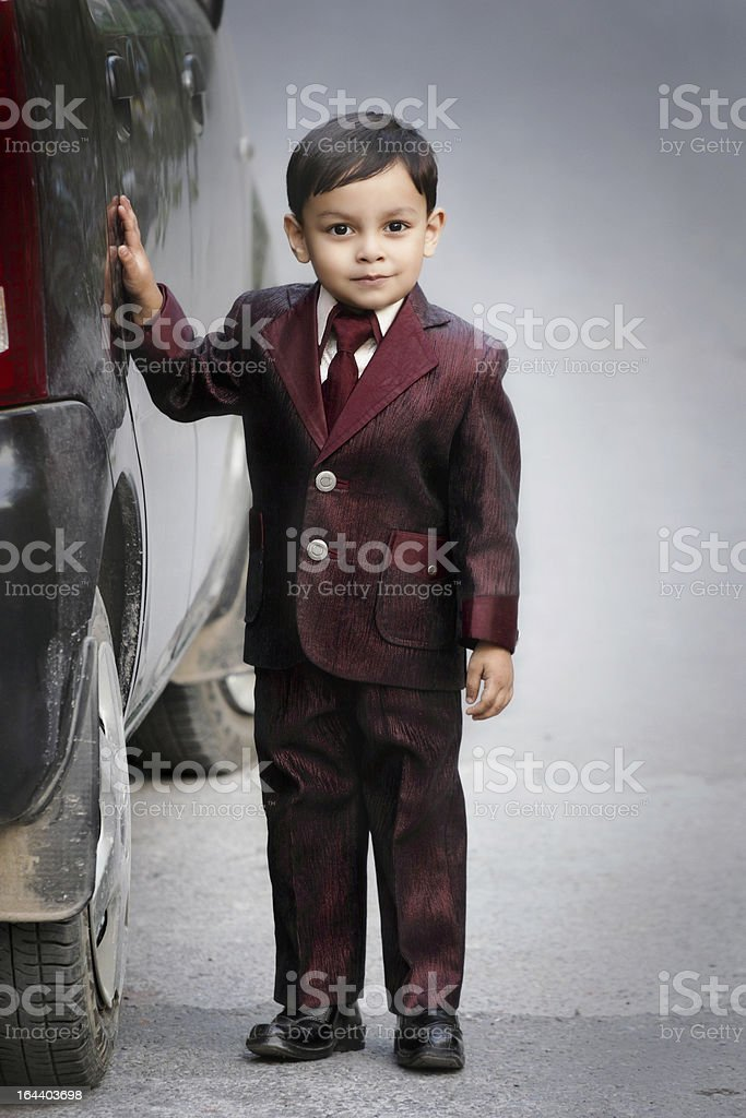 Child with car royalty-free stock photo