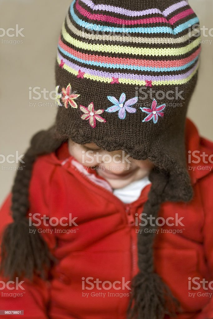 Child with hat royalty-free stock photo