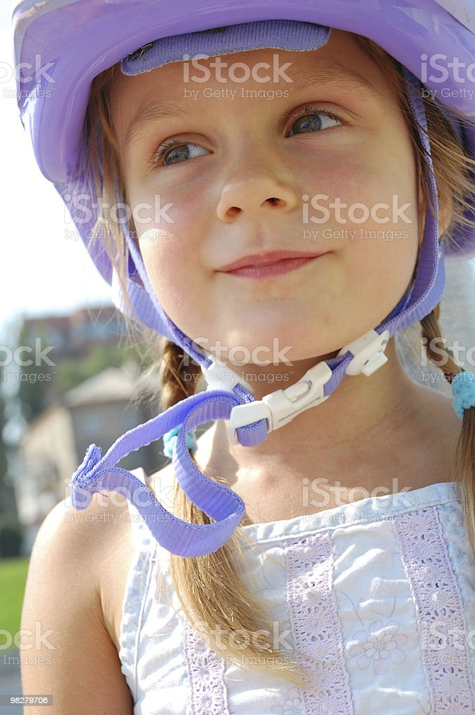 child with helmet royalty-free stock photo