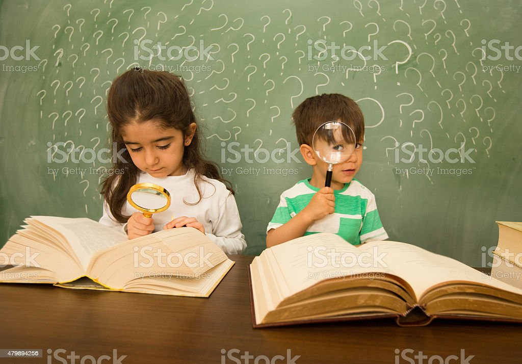 Child with learning difficulties stock photo