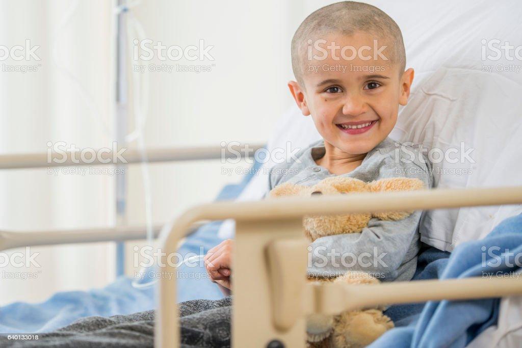 Child with Leukemia stock photo