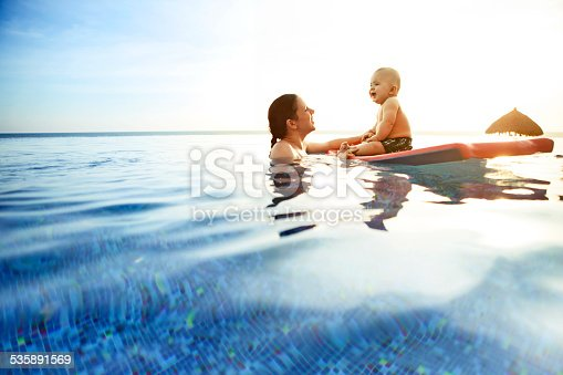 833314292istockphoto Child with mother in swimming pool 535891569