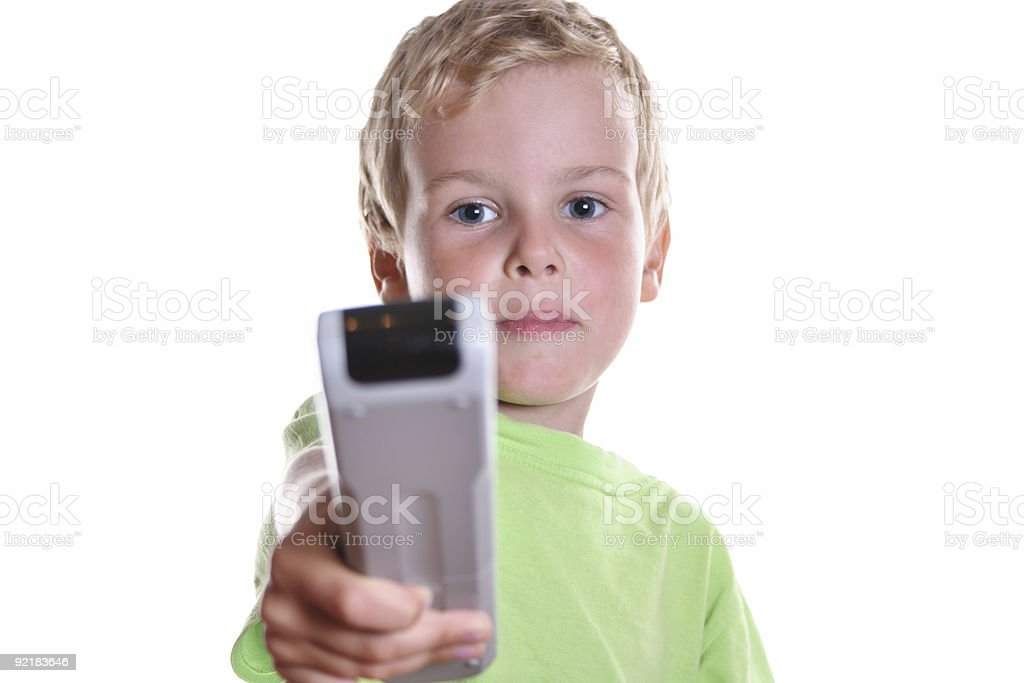 child with remote control royalty-free stock photo