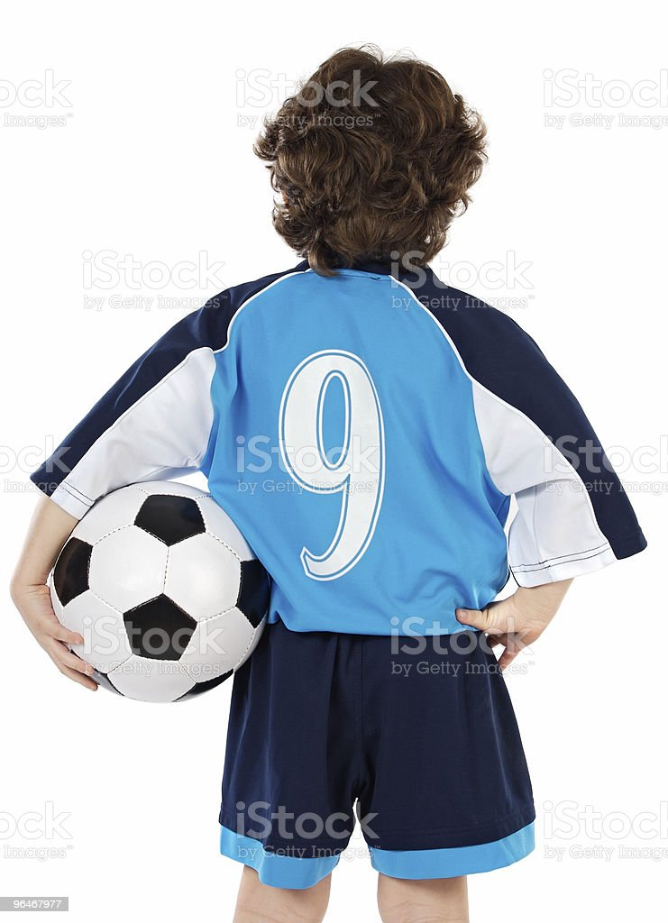 Child  with soccer ball royalty-free stock photo