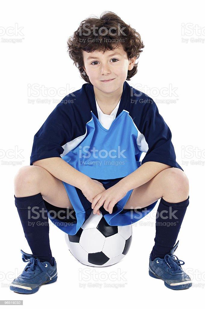 Dziecko z Piłka nożna zbiór zdjęć royalty-free