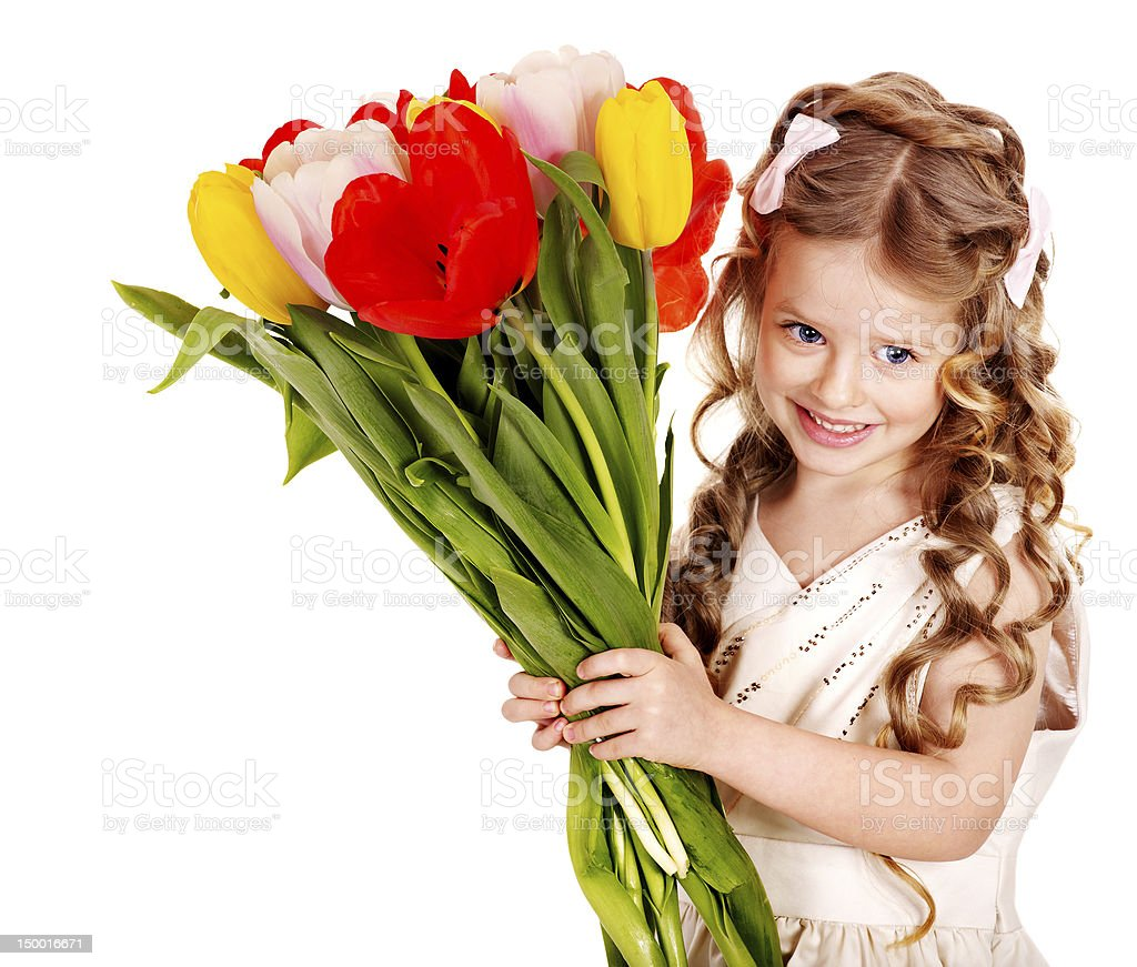 Child With Spring Flower Stock Photo 150016671 Istock