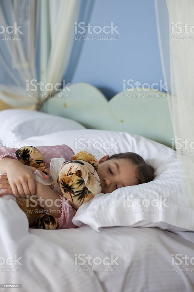 Child with stuffed animal royalty-free stock photo