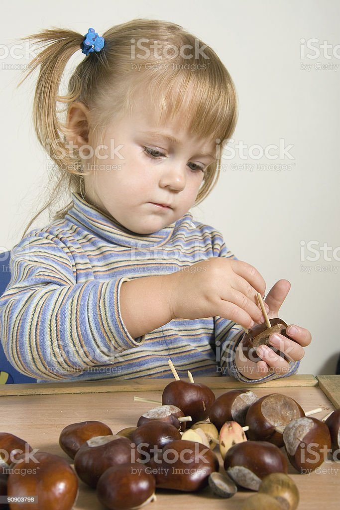 child working royalty-free stock photo