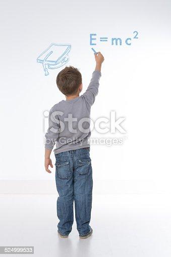istock child writes maths formula 524999533