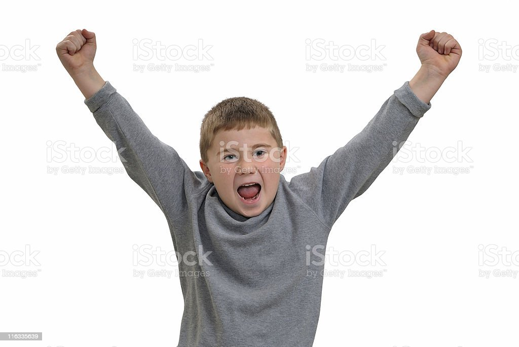 Child yelling royalty-free stock photo