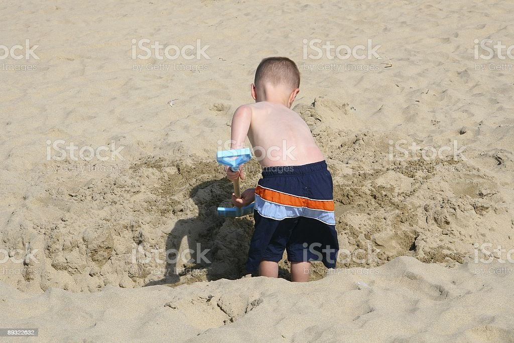 Childhood Digger stock photo
