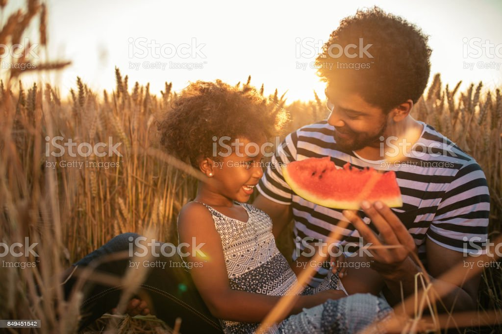 Childhood fun and bliss stock photo