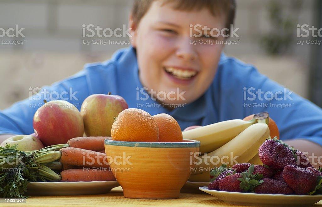 Childhood Healthy Eating stock photo