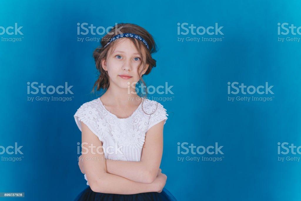 childhood in the studio stock photo