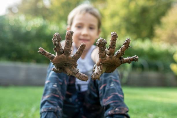 Childhood innocence concept stock photo