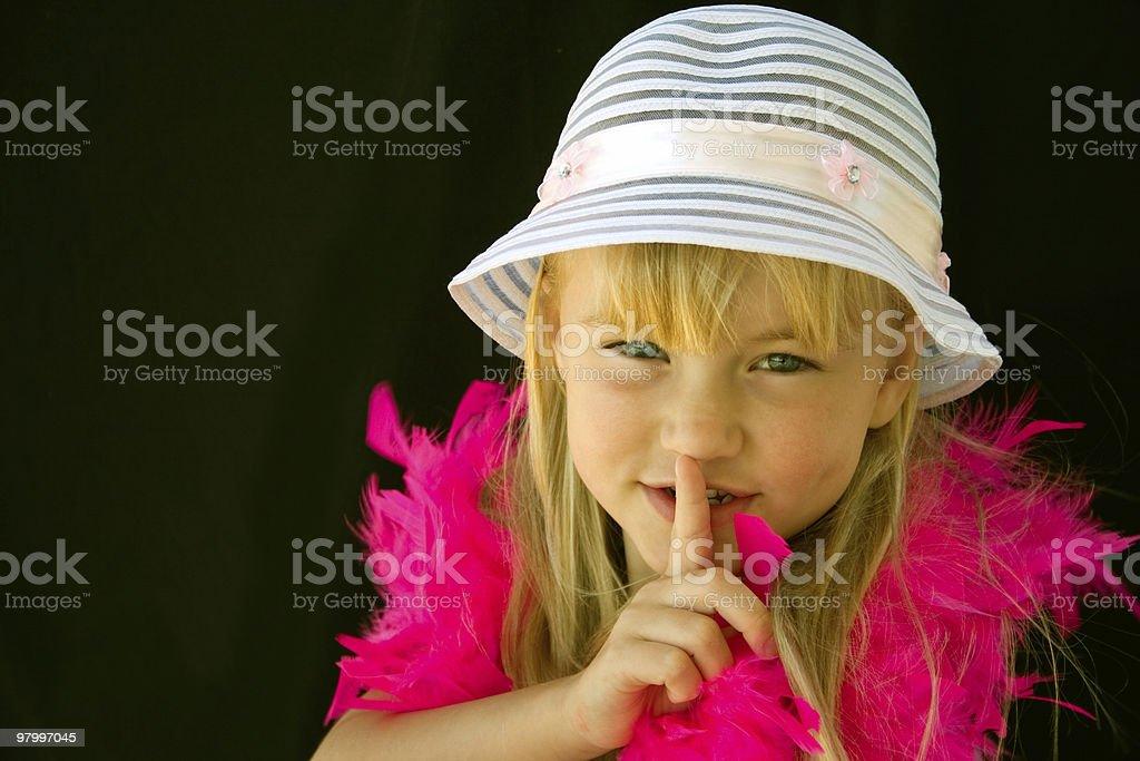 Childhood secrets royalty-free stock photo
