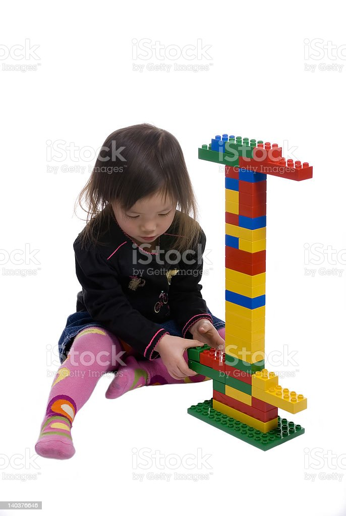 Childhood Series 10 (building blocks) royalty-free stock photo