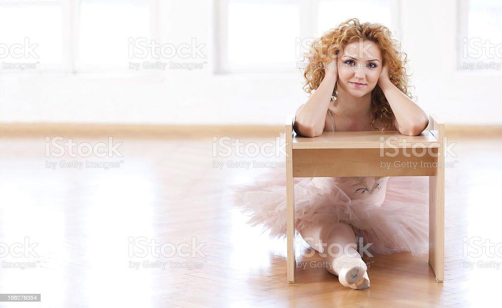 Childish Ballerina royalty-free stock photo