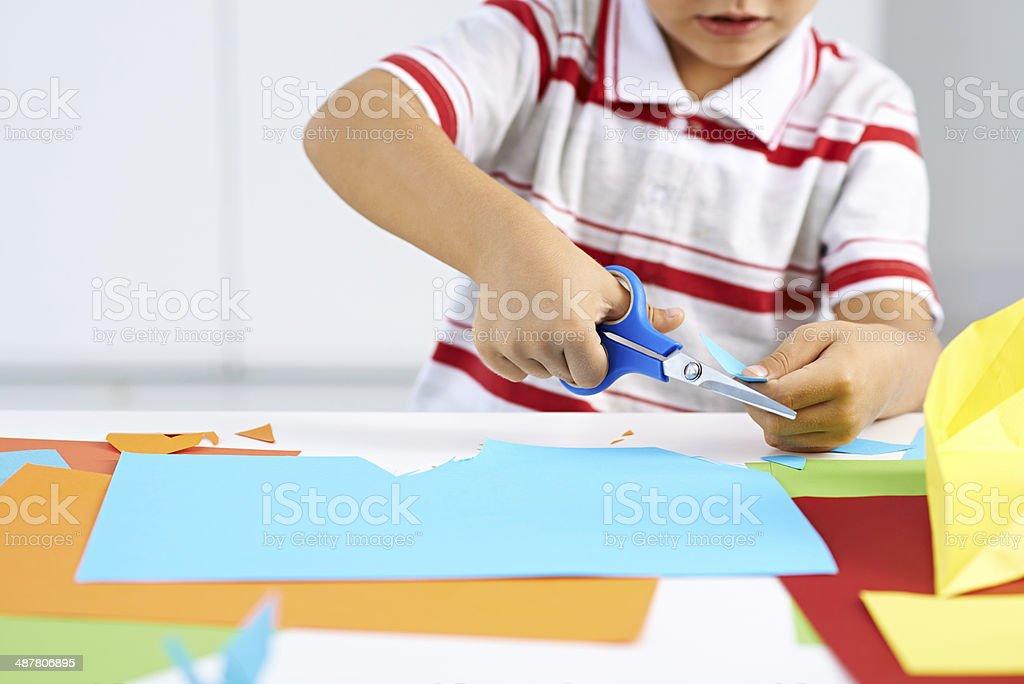 Childish craft stock photo